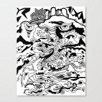 saxophone Canvas Prints featuring Saxophone Dreams by Jay Baldridge