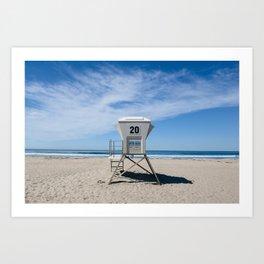 California Beach Day II Art Print