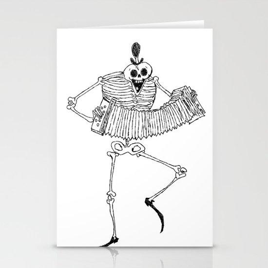 Skeleton Dance Stationery Cards
