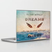 mandie manzano Laptop & iPad Skins featuring Dreams Are Wings by Diogo Verissimo