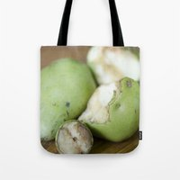 pear Tote Bags featuring Pear by BiancaDejaNu