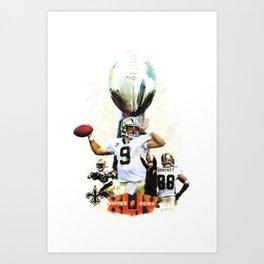 Super New Orleans Saints NFL Football Art Print