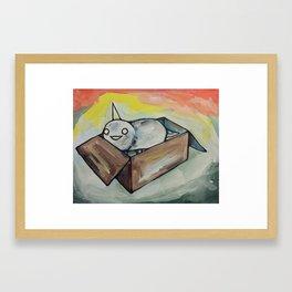 Burrito Unicorn in a box Framed Art Print