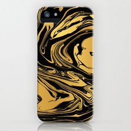 Black and Gold Marble Edition 2 iPhone Case