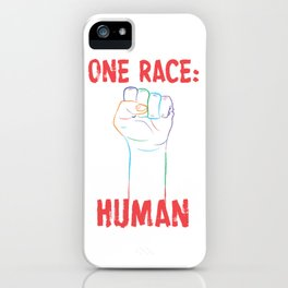 One Race: Human iPhone Case