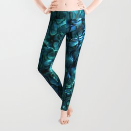 Abalone Shell | Paua Shell | Cyan Blue Tint Leggings
