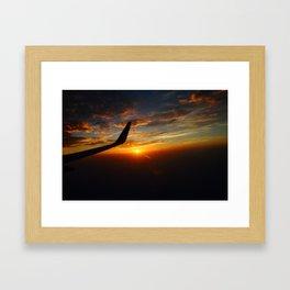 30,000 foot Sunset  Framed Art Print