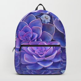 """Bouquet of pastel violet exotic succulents"" Backpack"