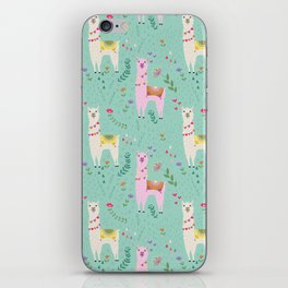 Llama Pattern iPhone Skin