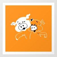 Porky Art Print