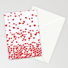 Falling Hearts Stationery Cards