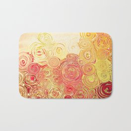 Autumn Rising -- Abstract in Fall Leaf Colors Bath Mat