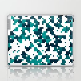 Take me to the bottom of the ocean - Random Pixel Pattern in shades of blue green Laptop & iPad Skin