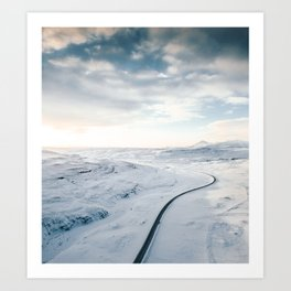 road in iceland Art Print