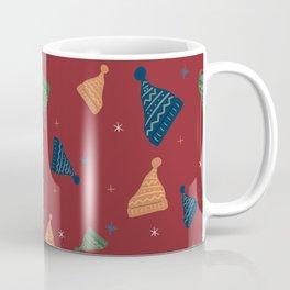 Winter Beanie Hand Drawn Seamless Pattern Coffee Mug