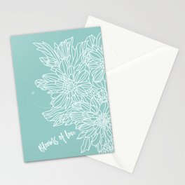 Blooms of Love_Aruba Blue Stationery Cards