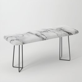 White Marble Texture Bench