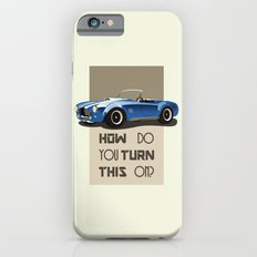 The Classic Game Cheat Code: How do you turn this on Funny Blue Cobra Car iPhone 6s Slim Case