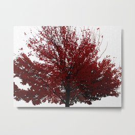 Tree on Canvas Metal Print