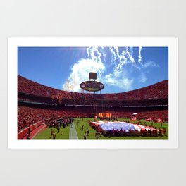 Arrowhead Home Opener Art Print