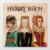 art history Canvas Prints featuring History Witch Logo Art by The History Witch