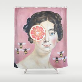 Bee Mother Shower Curtain