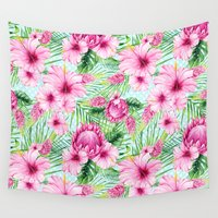 aloha Wall Tapestries featuring Aloha by frou frou