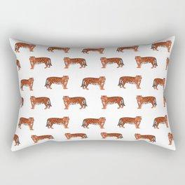 Tigers orange and purple clemson football fan varsity university college athletics Rectangular Pillow