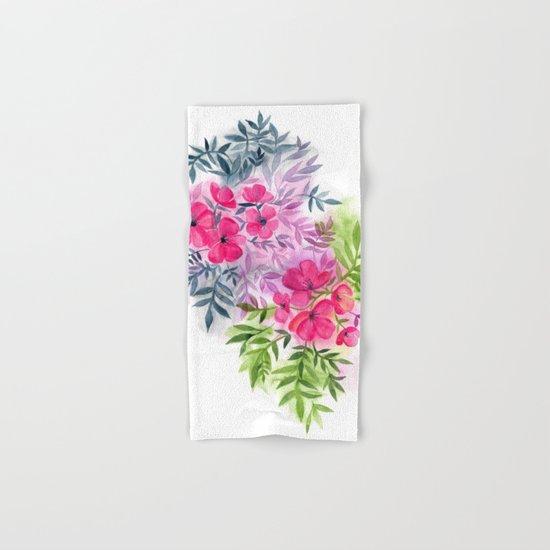 Dual Bouquets - a watercolor floral Hand & Bath Towel