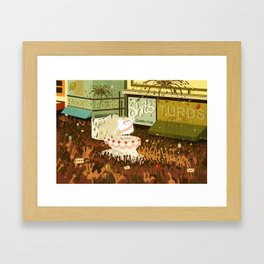 A Poo Parade Framed Art Print