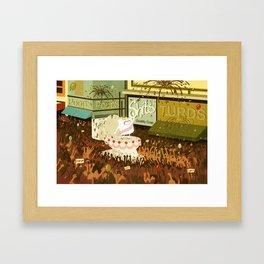 A Poo Parade Framed Art Print