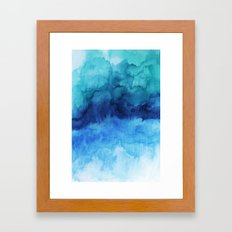 Blue Life Watercolor Framed Art Print