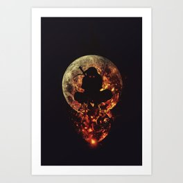 Ninja Moon shadow assassin Art Print