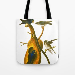 Purple Martin Bird Tote Bag