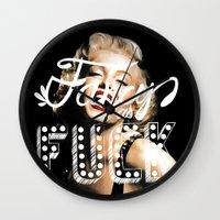 fancy Wall Clocks featuring FANCY by Tara Chambers