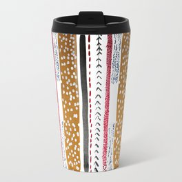 Make do and Mend pattern Travel Mug