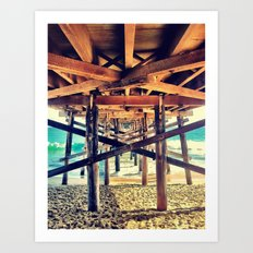 Under the Pier- Landscape Art Print