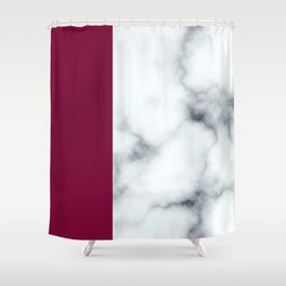 Berry Marble Shower Curtain