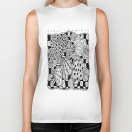 Zentangle Friends Come in All Sizes and Shapes Biker Tank