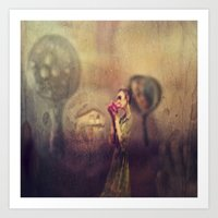 fairytale Art Prints featuring fairytale by shveshki.istorii