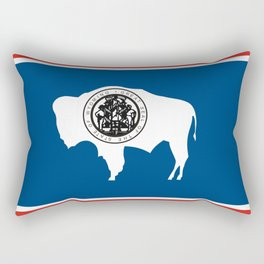 wyoming state flag united states of america country Rectangular Pillow