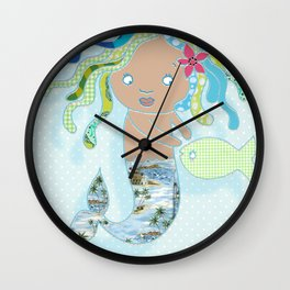 Water Fairy Mermaid Wall Clock