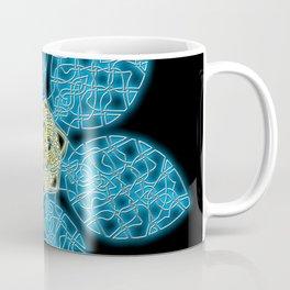 Celtic Knot Blue Flower Coffee Mug