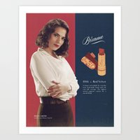peggy carter Art Prints featuring Peggy Carter by winnie