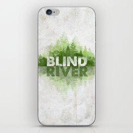 Blind River Trees (green) iPhone Skin