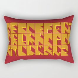 Alphabetical Pixel Red Rectangular Pillow