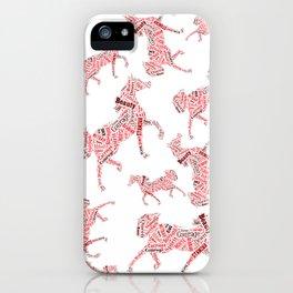 Arabian Horse Words iPhone Case