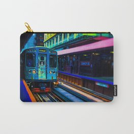 Brown Line Approaching Carry-All Pouch