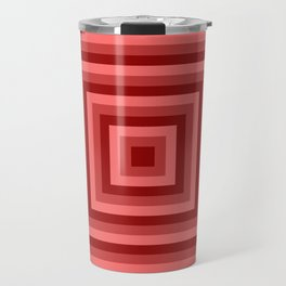 Red Squares Travel Mug