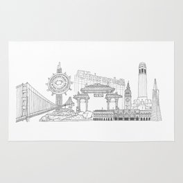 San Francisco by the Downtown Doodler Rug